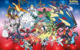 Pokémon mega evolutions from X and Y