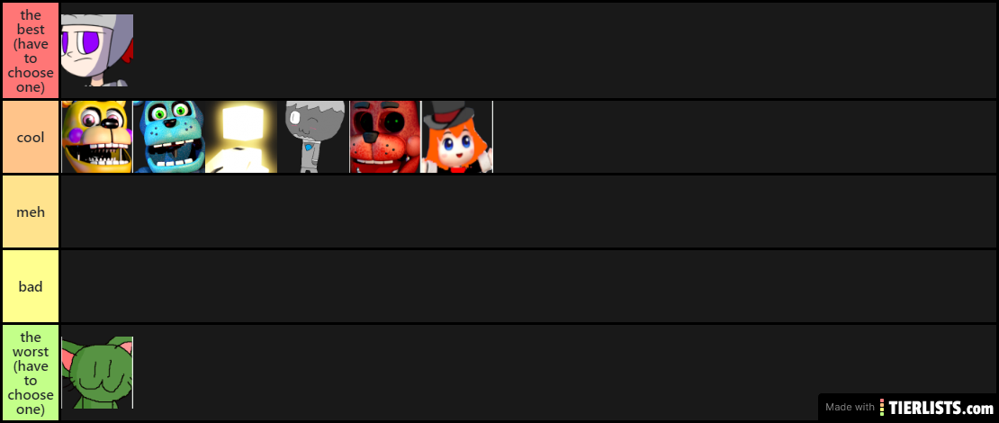 mess tier list