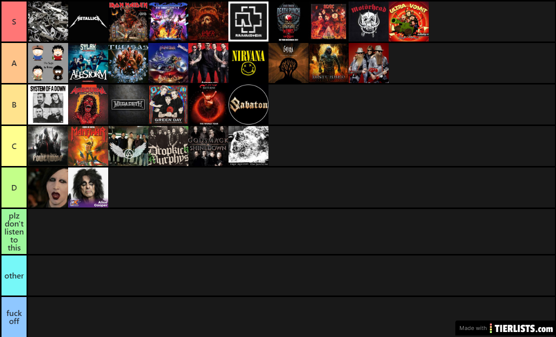 metal tier list