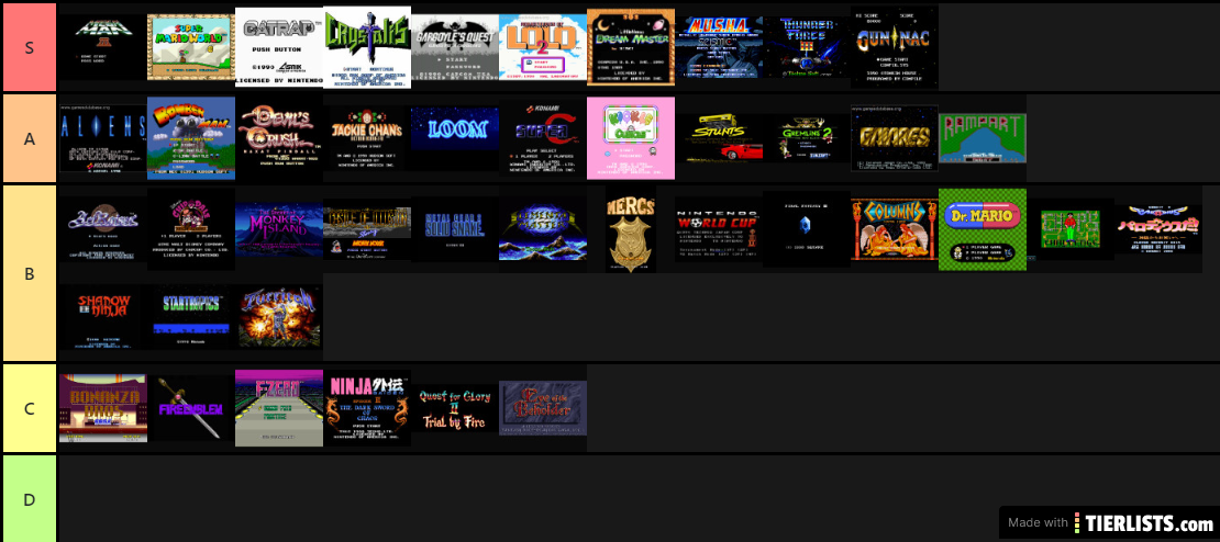 My Top Games 1990 test