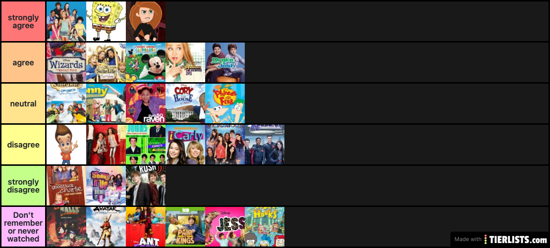 Recognize most of these shows
