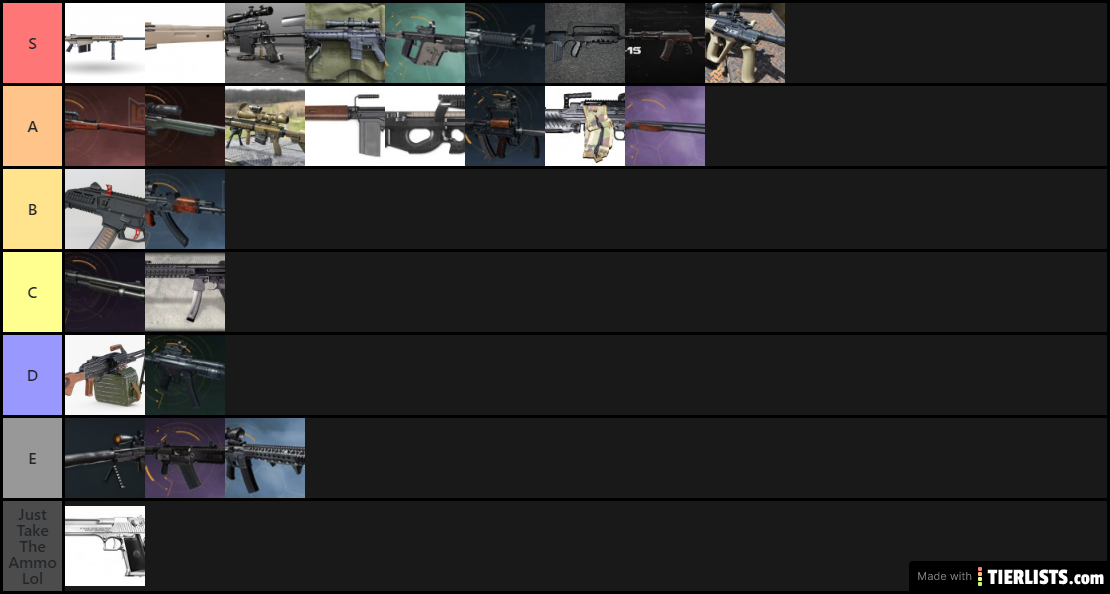 Ring Of Elysium Weapon Tier List (For Experienced Players